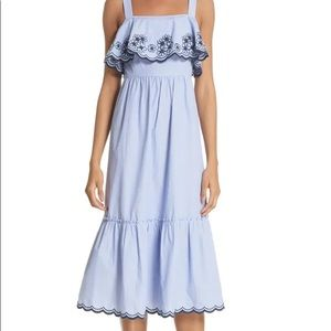 Kate spade ♠️ embroidered daisy patio dress nwot